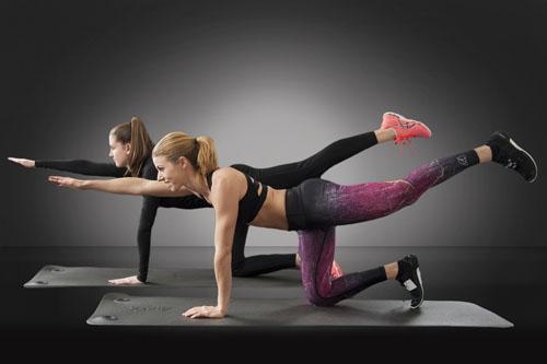 Frauen machen Sport