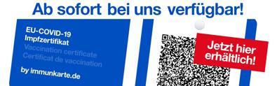 EU-Covid-19 Impfzertifikat - In unserer Apotheke erhältlich!