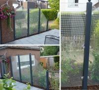Bild Glaszaun als Windschutz für die Terrasse