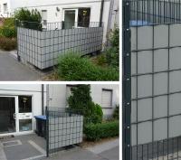Bild Stahlmattenzaun als Sichtschutz für Mülltonnen